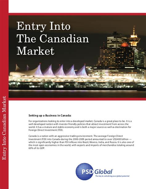Entrance For Mba In Canada by Entry Into Canadian Market