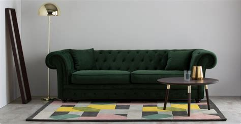 Branagh 3 Seater Chesterfield Sofa Pine Green Velvet Green Chesterfield Sofa For Sale