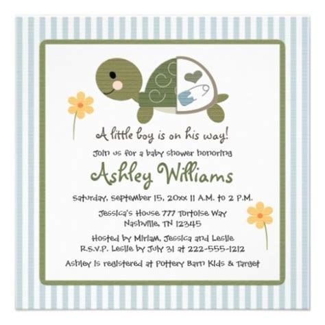 Turtle Baby Shower Invitations by Turtle Baby Shower Invitations Unique Baby Shower Favors