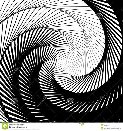 pattern distortion vector design whirlpool movement illusion background stock vector