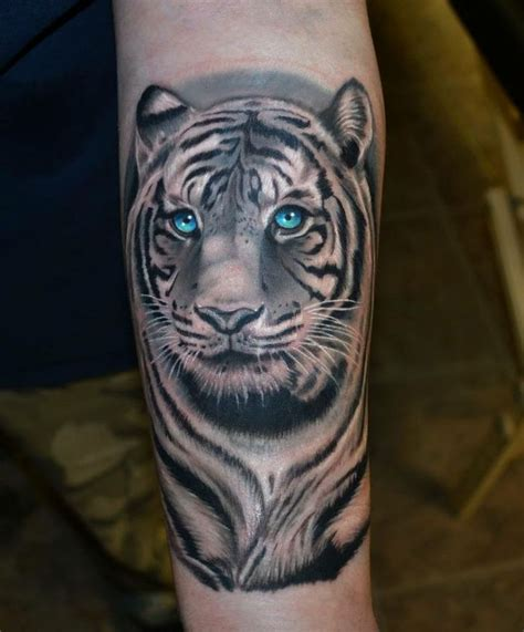 blue tiger tattoo white tiger with blue tattoos