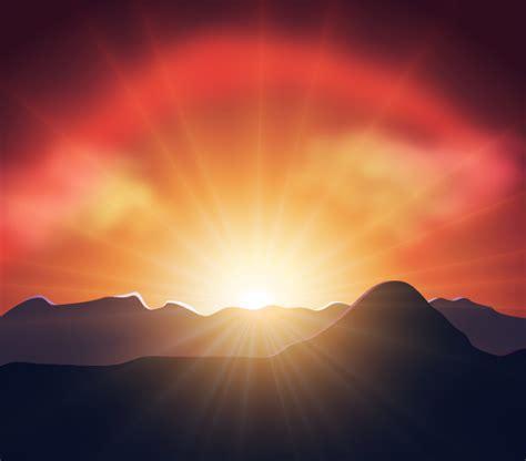 tutorial photoshop sunset how to illustrate a luminous vector sunset