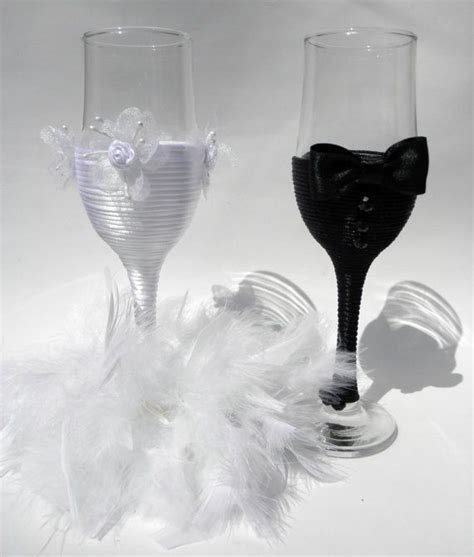 Wedding Champagne Glasses/Bridal/Wedding Decor/Centerpiece