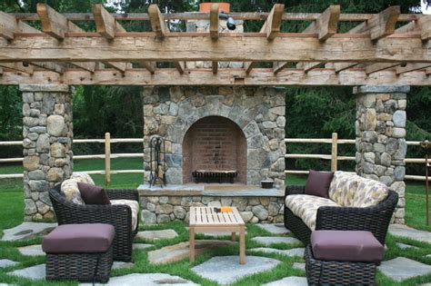 Outdoor Fireplaces And Firepits Fireplaces And Pits Traditional Patio Other Metro By Ambrosio Landscape Solutions