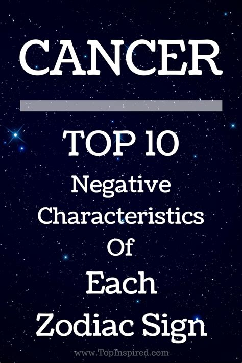 top 10 negative characteristics of each zodiac sign page