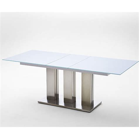 Frosted Glass Dining Tables Massimo White Frosted Glass Dining Table 19506 Furniture In