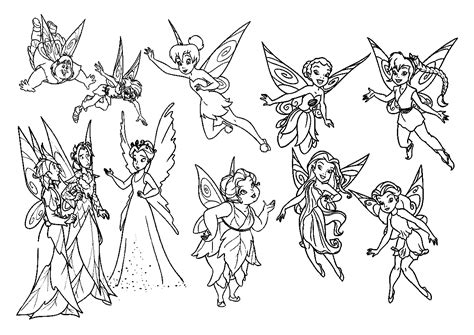 Coloring Pages Of Tinkerbell And Friends free printable tinkerbell coloring pages for