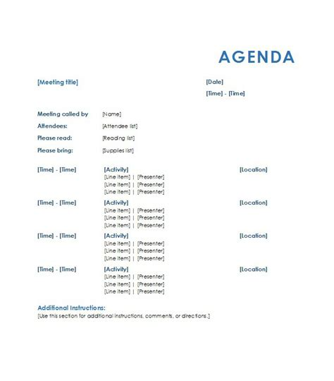 templates for meeting agendas 46 effective meeting agenda templates template lab