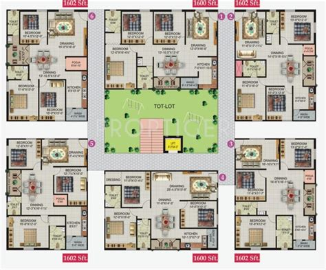 royal castle floor plan 1602 sq ft 3 bhk 2t apartment for sale in lakshmi infratech royal castle nallagandla gachibowli