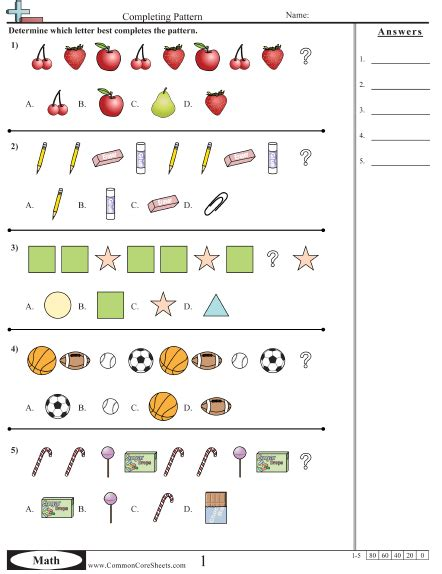 pattern year 1 numeracy maths patterns worksheets free math worksheets 3rd grade