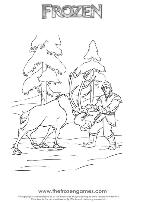coloring pages frozen sven sven and kristoff frozen coloring frozen games
