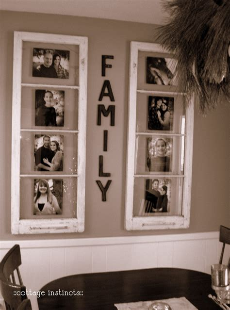 diy home decor use windows as new photo frames