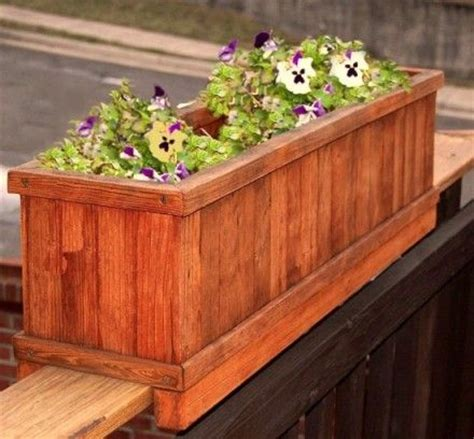 Planter Boxes For Balcony Railings by Best 25 Deck Railing Planters Ideas On