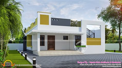 House Plans 1500 Sq Ft by Simple Contemporary Home Kerala Home Design And Floor Plans