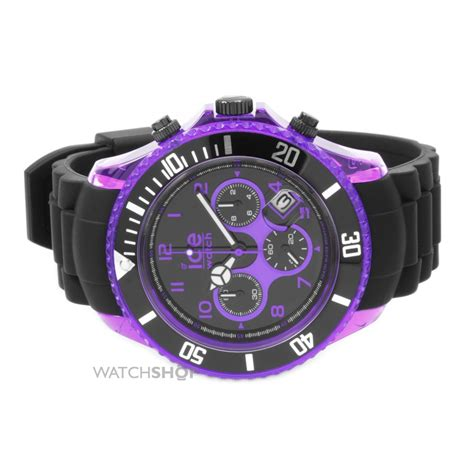 Bb Ch 122mm big big black and purple sili chronograph