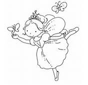 FREE Fairy Coloring Pages  Cute With Her Butterfly Print And