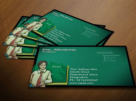 business cards for teachers templates free 50 best free psd business card templates designscrazed