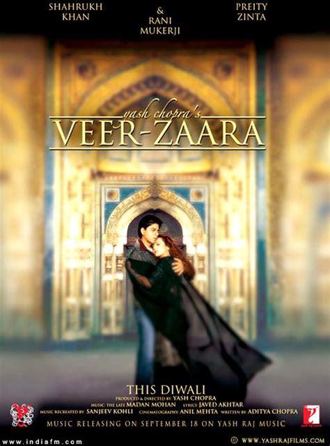 film india veer zaara veer zaara shahrukh khan preity zinta rani mukherjee hindi