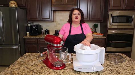 mixer reviews bosch mixer  kitchenaide youtube