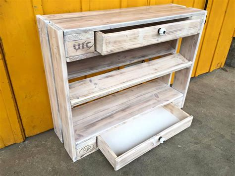 Handmade Shoe Rack - pallet shoe rack and chest of drawers 99 pallets