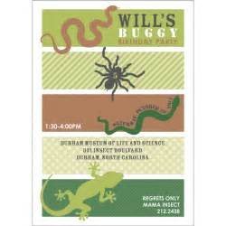 insects reptiles birthday party printable invitation