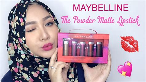 Lipstick Maybelline Indonesia maybelline the powder matte lipstick review swatch