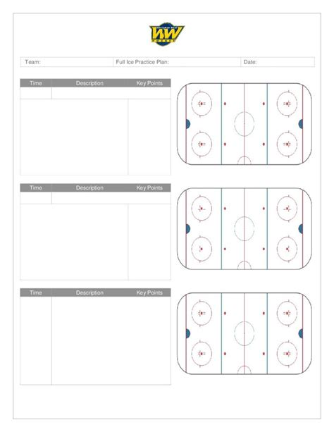 blank hockey practice plan template lovely hockey drill template ideas resume ideas