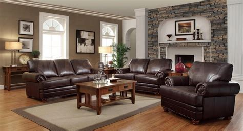 brown home decor ideas living room decorating ideas with dark brown leather