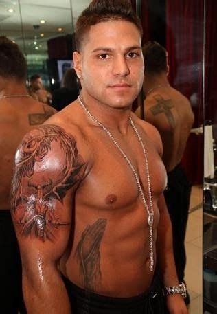 ronnie cross tattoo slideshow ronnie magro s religious tattoos all