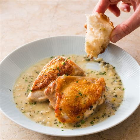 Skillet Roasted Chicken In Lemon Sauce America S Test American Test Kitchen Recipes