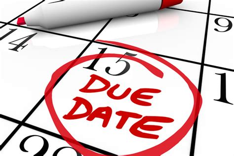 Estimated Due Date Calendar 2015 Estimated Tax Payment Is Due Friday Jan 15