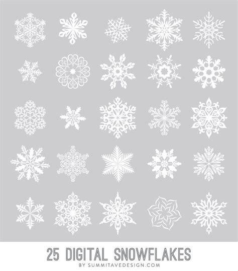 snow pattern brush digital snowflakes photoshop brush vector png files