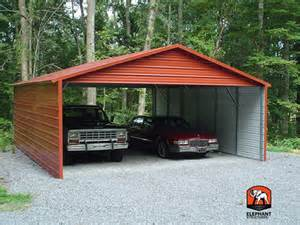 Build A Two Car Garage by Two Car Garage Kit Carport Com