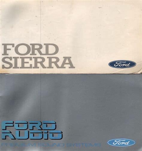 Original Ford Sierra Handbook