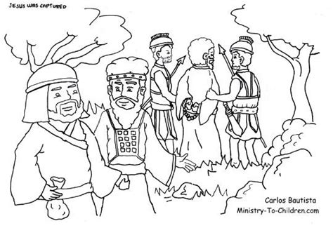 coloring pages jesus in gethsemane coloring page judas betrays jesus in the garden of