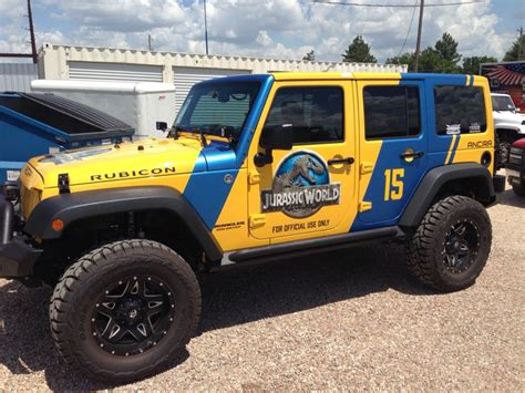 jurassic world jeep ancira jeep tricked out a jeep for jurassic world