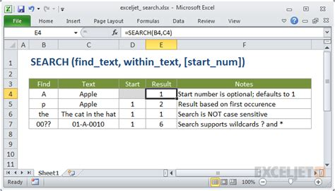 How To Use A Search How To Use The Excel Search Function Exceljet