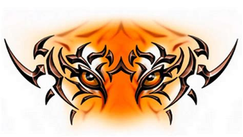 tiger with tribal tattoo henna designs animal tattoos design