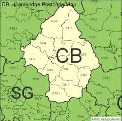 map of post cambridge postcode area and district maps in editable format
