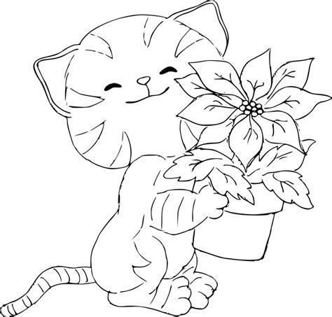 coloriage de chaton a imprimer az coloriage coloriage chaton et fleurs 224 imprimer sur coloriages info
