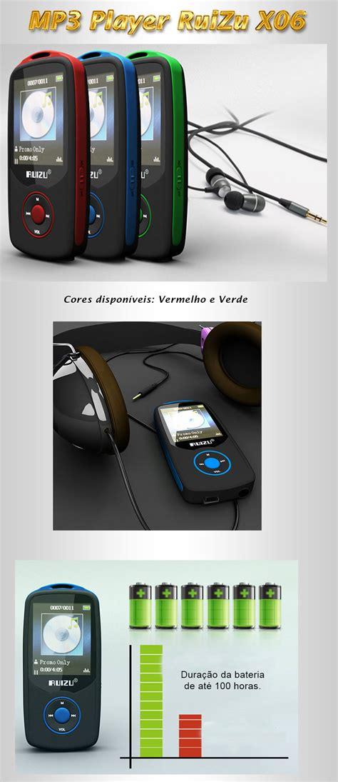 Bluetooth Hifi Dap Mp3 Player 4gb Ruizu X06 mp3 player x06 ruizu dap fm 4gb mp4 multim 237 dia bluetooth r 165 00 em mercado livre