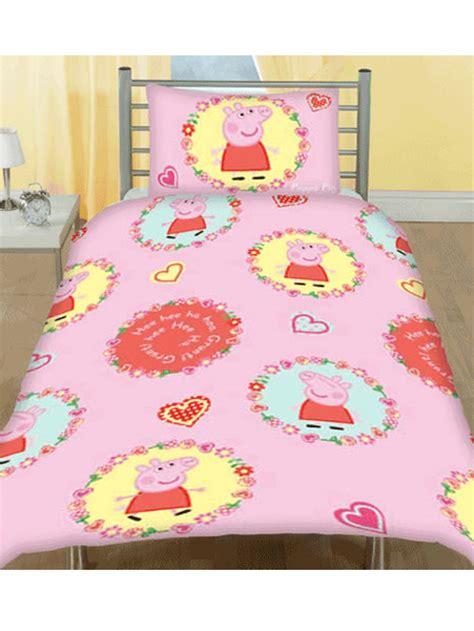 Peppa Pig Cot Bed Duvet Set Peppa Pig Spiral Junior Cot Bed Duvet Quilt Cover New Ebay