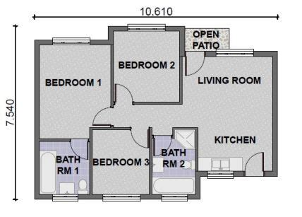 3 Bedroom House Designs South Africa Bedroom And Bed Reviews