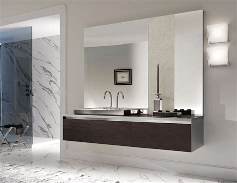 modern italian bathroom vanities milldue four seasons 05 open pore oak carbone luxury