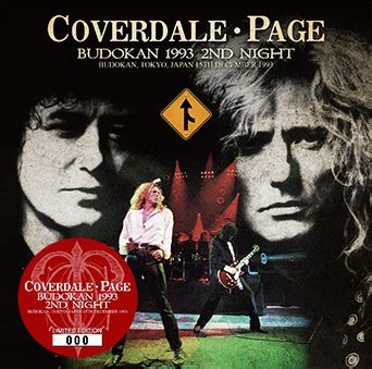 Cd Coverdale Page Album Coverdale Page coverdale page budokan 1993 2nd cd at discogs