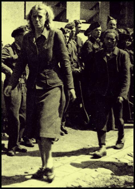 frank concentration c c guards at bergen belsen april 1945 herta bothe and