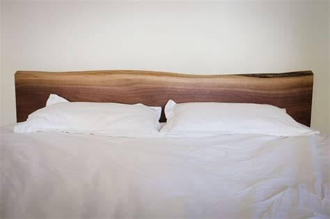 custom solid walnut headboard by hedge house furniture