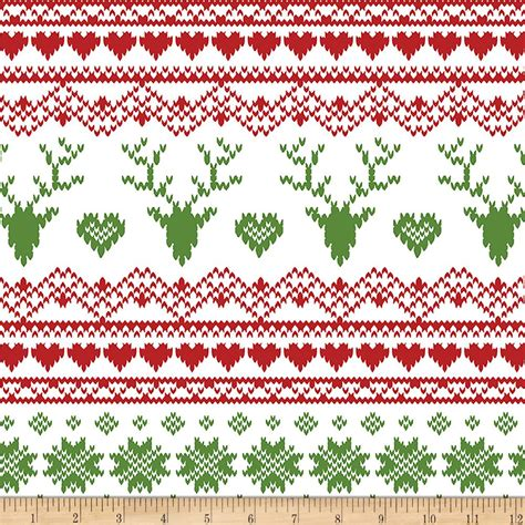 christmas pattern knit fabric bolt by girl charlee jolly holiday jersey knit fairisle