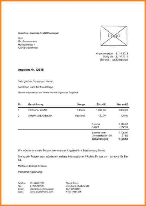 Angebot Formulierung Muster 6 Angebot Dienstleistung Muster Kostenlos Sponsorshipletterr