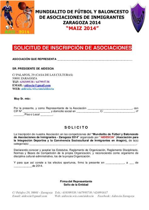 Modelo De Curriculum Para Jugador De Futbol Modelo De Solicitud De Inscripci 243 N Mundialito De